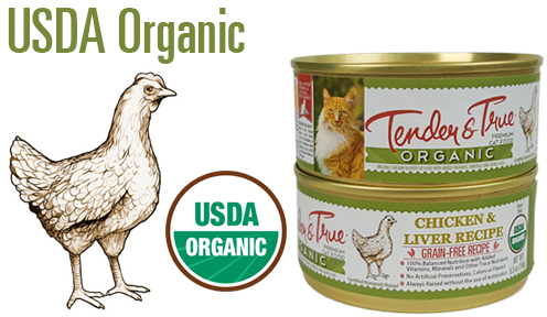 Organic chicken liver canned cat food tender and true pet flavorgraphic organic chicken cat can 2 forumfinder Image collections